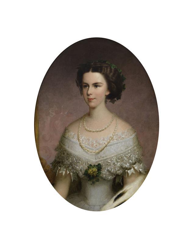 画像: フランツ・ルス(父)《皇后エリーザベト》1855年 油彩/カンヴァス 81.5×58 cm ウィーン・ミュージアム蔵 ©Wien Museum / Foto Peter Kainz