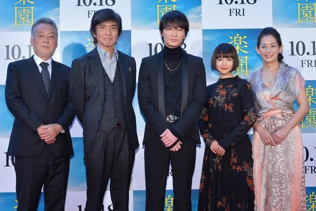 画像: 左より瀬々敬久監督、佐藤浩市、綾野剛、杉咲花、片岡礼子