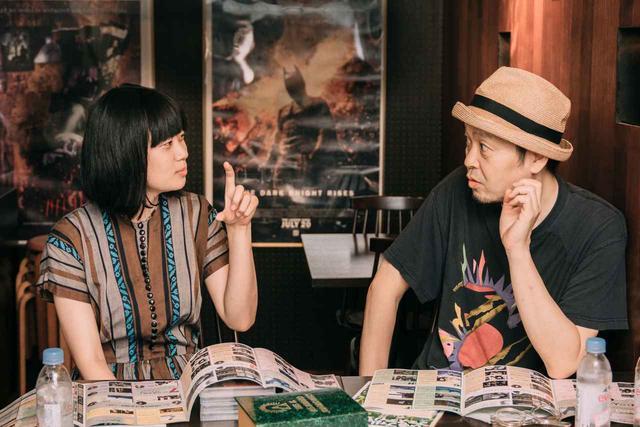 画像: 左より×山中瑶子監督、大島依提亜さん(グラフィックデザイナー)