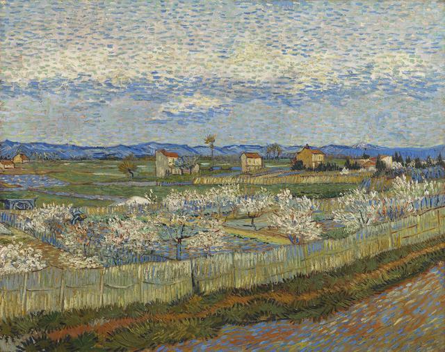 画像: フィンセント・ファン・ゴッホ《花咲く桃の木々》1889年 油彩、カンヴァス 65×81cm コートールド美術館 © Courtauld Gallery (The Samuel Courtauld Trust)