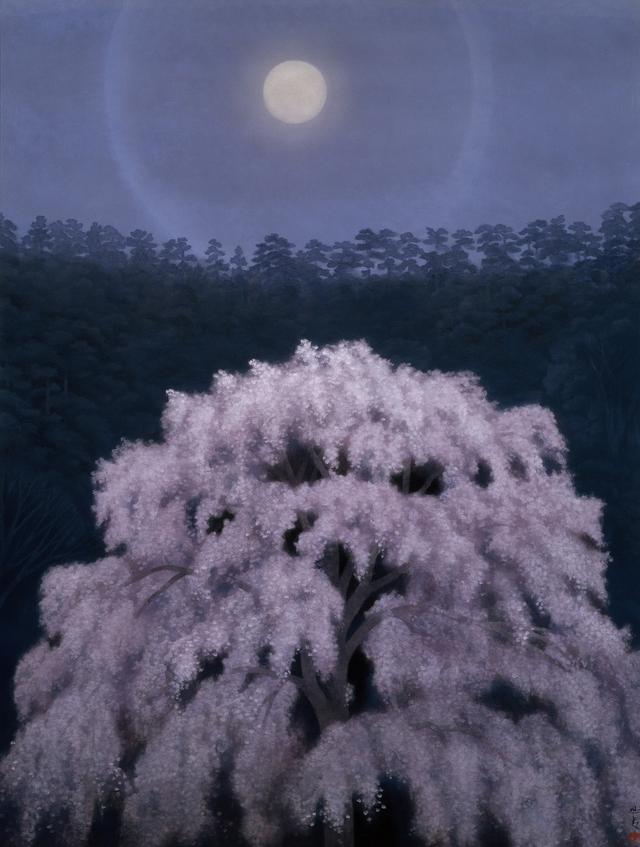 画像: 東山魁夷《京の春》(『古都』挿絵原画) 1973年|東山家蔵