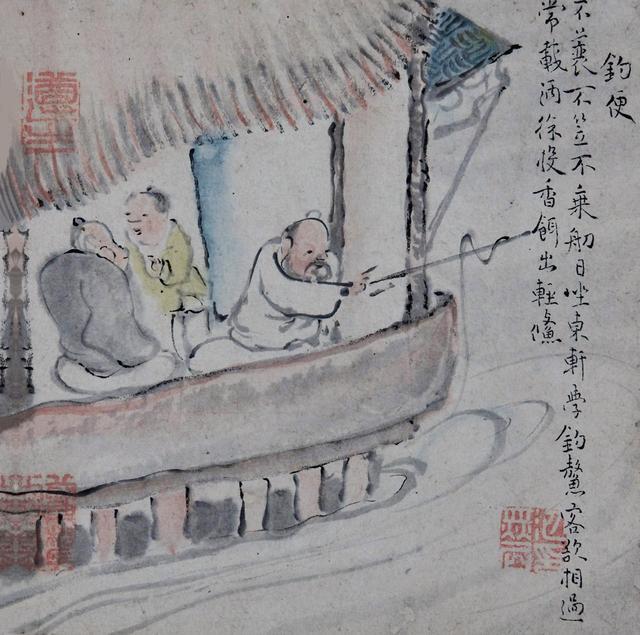 画像: 国宝 池大雅《十便図》より「釣便」 1771年|公益財団法人川端康成記念会蔵