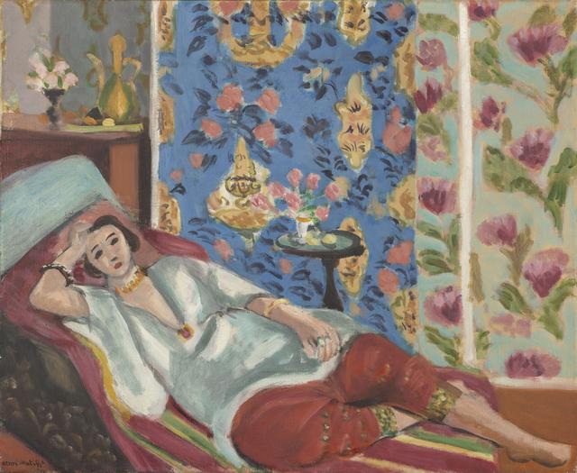 画像: アンリ・マティス《赤いキュロットのオダリスク》1924-25年頃、油彩・カンヴァス、50×61cm Artwork : © Succession H. Matisse Photo © RMN-Grand Palais (musée de l'Orangerie) / Michel Urtado / Benoit Touchard / distributed by AMF オランジュリー美術館蔵