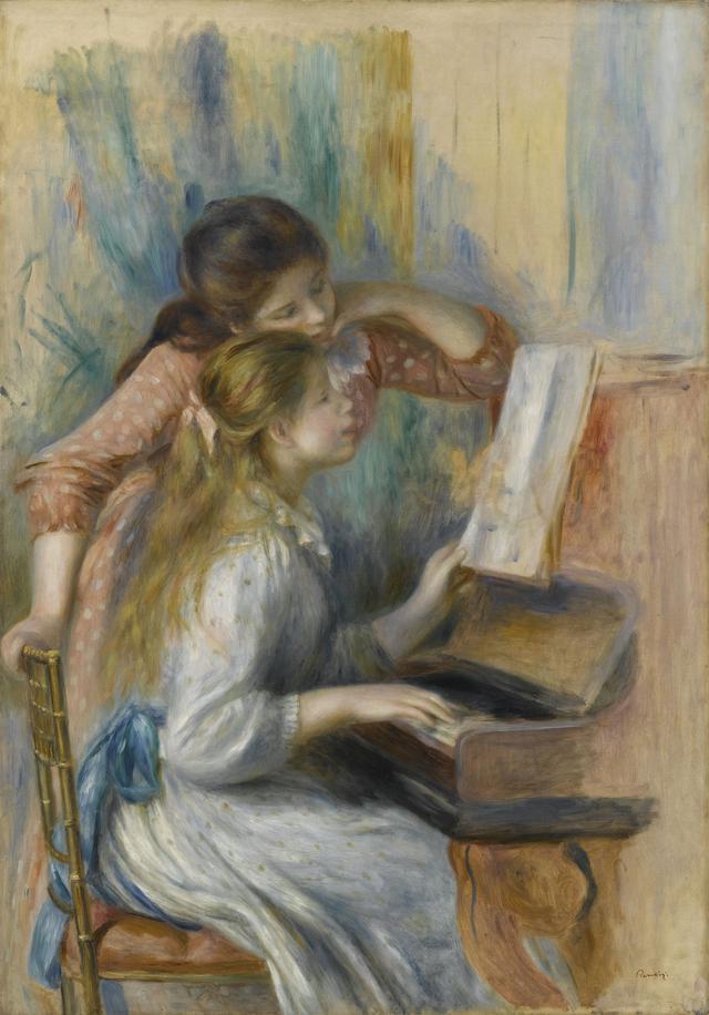 画像: オーギュスト・ルノワール《ピアノを弾く少女たち》1892年頃、油彩・カンヴァス、116×81cm Photo © RMN-Grand Palais (musée de l'Orangerie) / Franck Raux / distributed by AMF オランジュリー美術館蔵