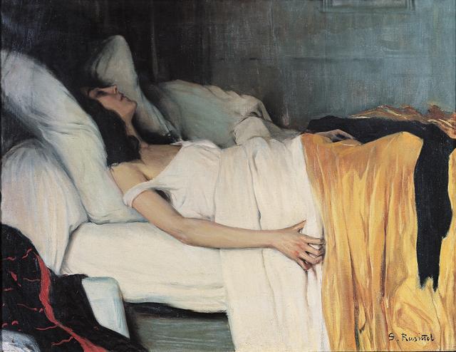 画像: サンティアゴ・ルシニョル《モルヒネ中毒の女》 1894年 油彩/カンヴァス カウ・ファラット美術館