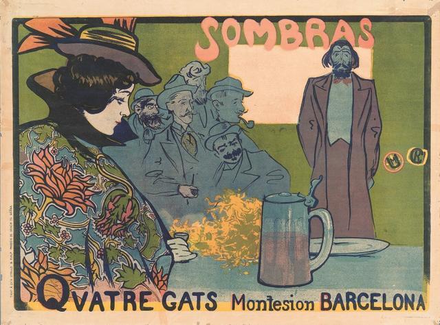 画像: ラモン・カザス《影絵芝居のポスター》 1897年 リトグラフ/紙 マルク・マルティ・コレクション © Marc Martí collection