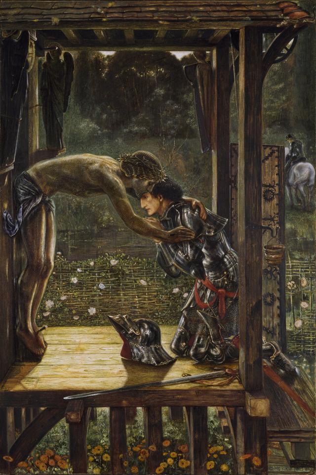 画像: エドワード・バーン=ジョーンズ《慈悲深き騎士》1863年、バーミンガム市美術博物館 © Birmingham Museum Trust on behalf ofBirmingham City Council