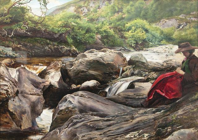 画像: ジョン・エヴァレット・ミレイ《滝》1853年、デラウェア美術館 © Delaware Art Museum, Samuel and Mary R. Bancroft Memorial, 1935