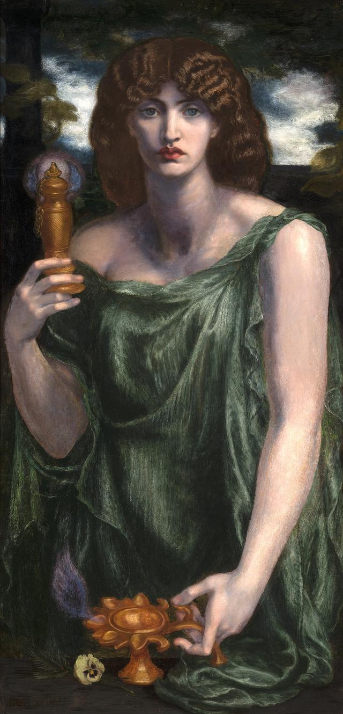画像: ダンテ・ゲイブリエル・ロセッティ《ムネーモシューネー(記憶の女神)》、1876-81年、デラウェア美術館 © Delaware Art Museum, Samuel and Mary R. Bancroft Memorial, 1935