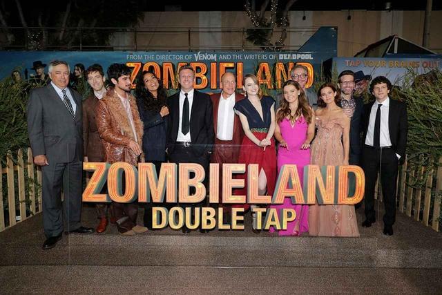 画像1: ウディ・ハレルソン、ジェシー・アイゼンバーグ、アビゲイル・ブレスリン、エマ・ストーン--熱狂のワールドプレミア『ゾンビランド:ダブルタップ』
