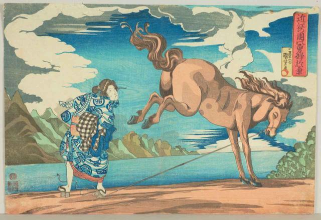 画像: 国芳 近江の国の勇婦 於兼 天保2-3(1831-32)年 太田記念美術館蔵