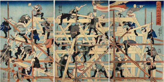 画像: 子供遊土蔵之上棟 天保13(1842)年頃 つまり改革の真っ只中 個人蔵