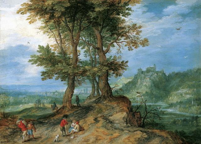 画像: ヤン・ブリューゲル(父)《市場への道》 1604年、油彩・銅板 所蔵:リヒテンシュタイン侯爵家コレクション、ファドゥーツ/ウィーン ©  LIECHTENSTEIN. The Princely Collections, Vaduz-Vienna