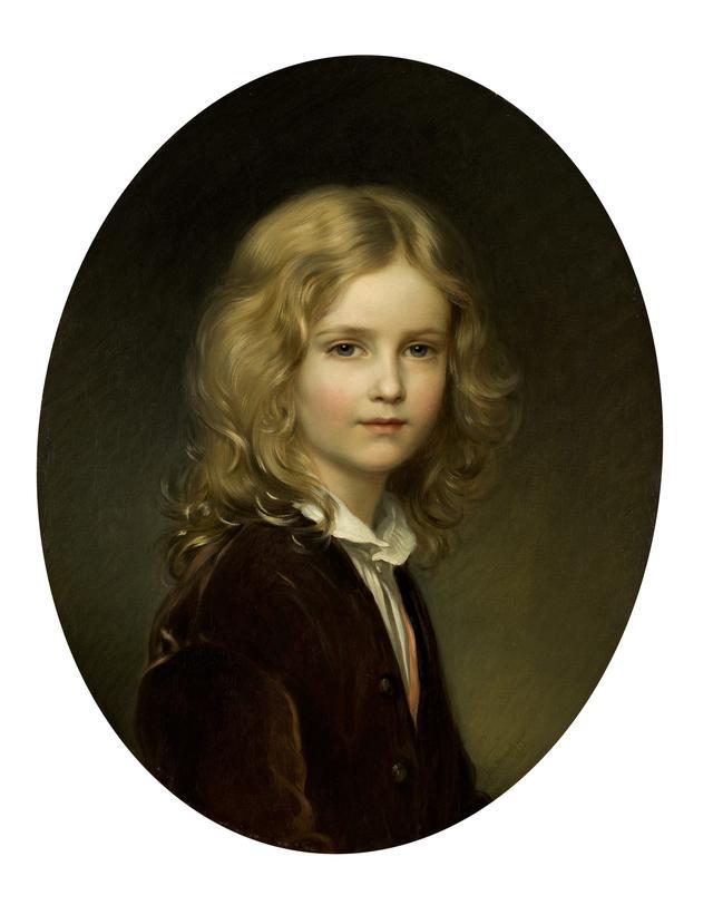 画像: ヨーゼフ・ノイゲバウアー 《リヒテンシュタイン侯フランツ1世、8歳の肖像》 1861年、油彩・キャンヴァス 所蔵:リヒテンシュタイン侯爵家コレクション、ファドゥーツ/ウィーン ©  LIECHTENSTEIN. The Princely Collections, Vaduz-Vienna