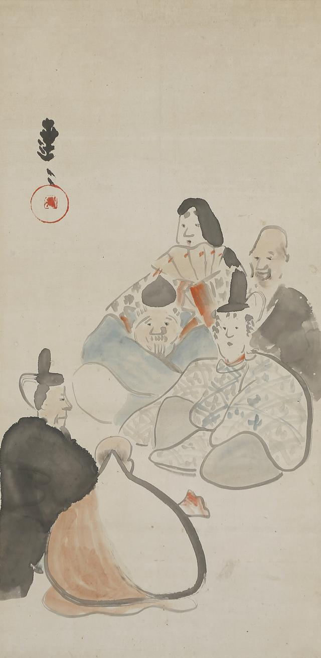 画像: 中村芳中 〈六歌仙図〉 新古美術わたなべ蔵