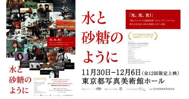 画像: 映画『水と砂糖のように』公式サイト|11月30日―12月6日(全12回限定上映)東京都写真美術館ホール