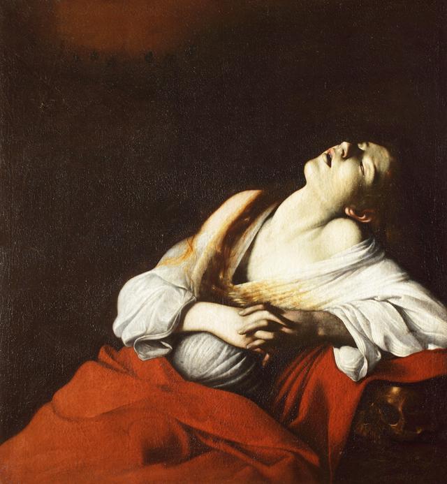 画像: ミケランジェロ・メリージ・ダ・カラヴァッジョ 《法悦のマグダラのマリア》 1606年 油彩・カンヴァス 個人蔵