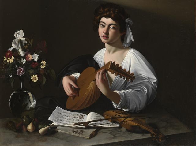 画像: ミケランジェロ・メリージ・ダ・カラヴァッジョ 《リュート弾き》 1596-97年頃 個人蔵