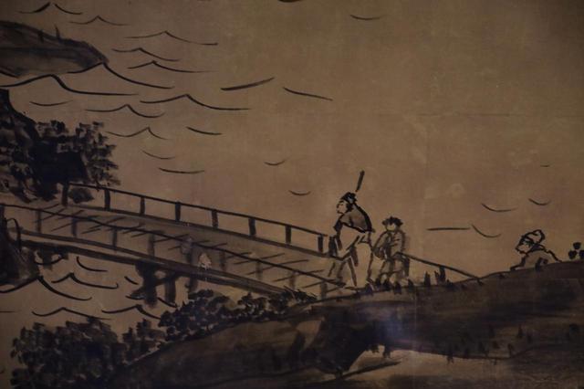 画像: 円山応挙 山水図 (部分)江戸時代 天明7(1787)年 大乗寺客殿襖絵