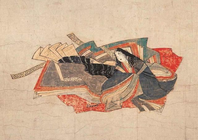 画像: 重要文化財 《佐竹本三十六歌仙絵 小大君》(部分)、鎌倉時代 13世紀、大和文華館蔵、後期(11/6~11/24)展示
