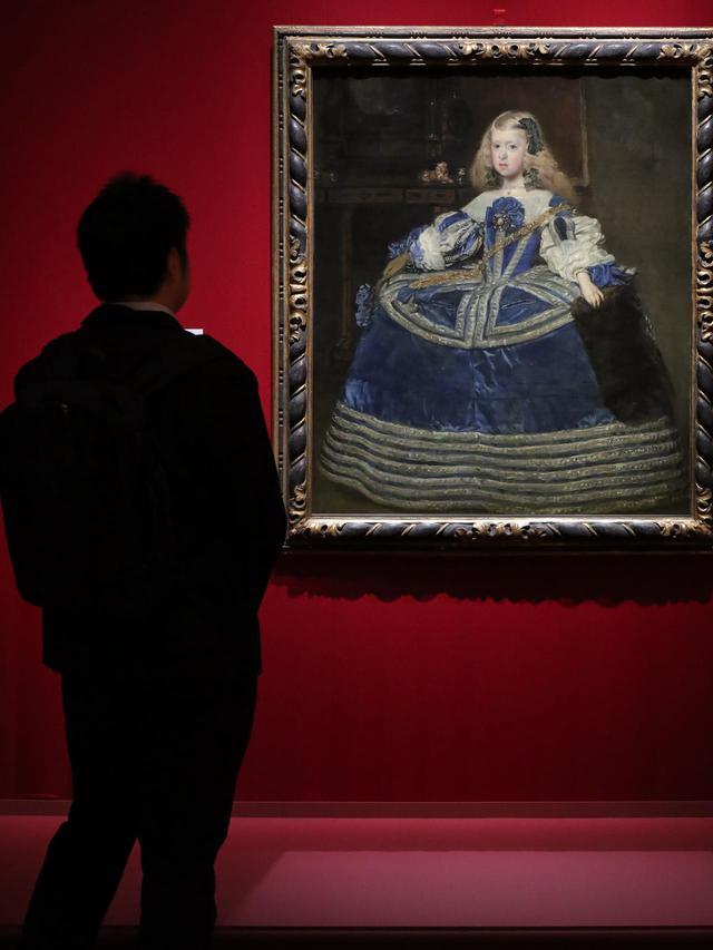 画像: ディエゴ・ベラスケス「青いドレスの王女マルガリータ・テレサ」1659年 ウィーン美術史美術館