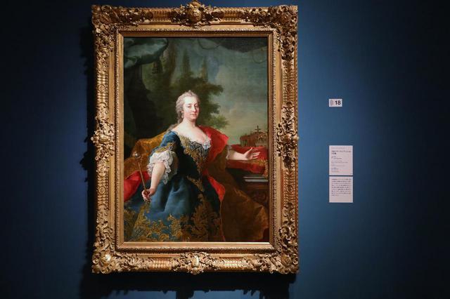 画像: マルティン・ファン・メイテンス(子)「皇妃マリア・テレジアの肖像」1745-50頃 ウィーン美術史美術館