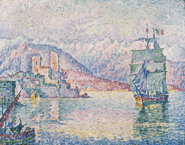 画像: ポール・シニャック《アンティーブ、夕暮れ》1914年 Musée d'Art Moderne et Contemporain de Strasbourg, Photo Musées de Strasbourg.