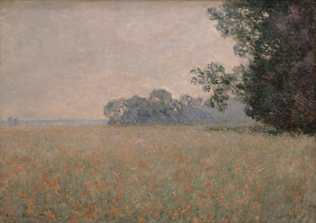 画像: クロード・モネ《ひなげしの咲く麦畑》1890年頃 Musée d'Art Moderne et Contemporain de Strasbourg, Photo Musées de Strasbourg.