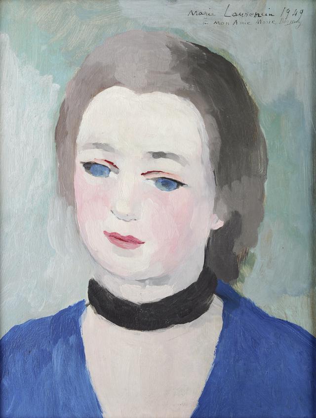 画像: マリー・ローランサン《マリー・ドルモワの肖像》1949年 Musée d'Art Moderne et Contemporain de Strasbourg, Photo Musées de Strasbourg.