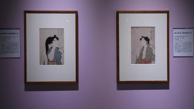 画像: ボストン美術館所蔵の歌麿作品二点 褪色もほとんど見られない