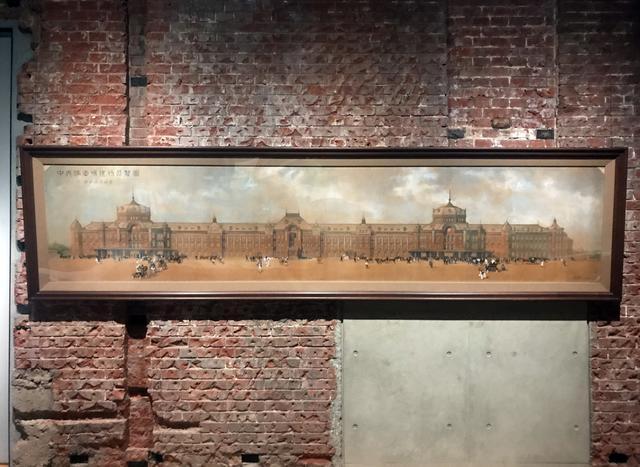 画像: 展示風景:辰野・葛西建築事務所《中央停車場建物展覧図》1911年頃、鉄道博物館蔵 photo©msaito