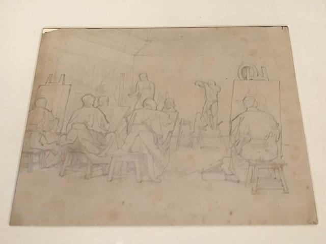 画像: 松岡壽《工部美術学校画学教場》1877-78年頃、個人蔵 photo©msaito