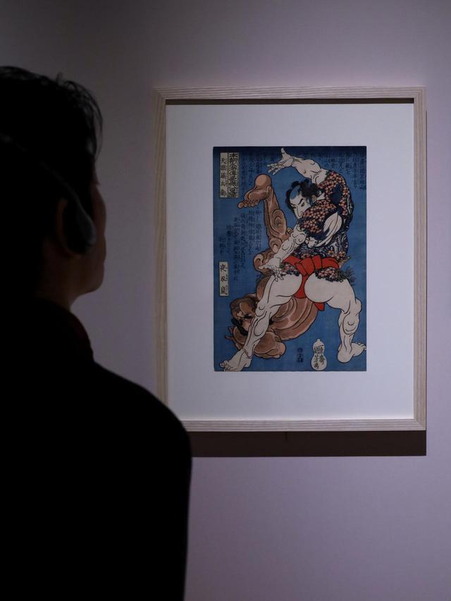 画像: 歌川国芳 『本朝水滸伝豪傑八百人一個 天眼磯兵衛』江戸時代 天保2(1831)年頃