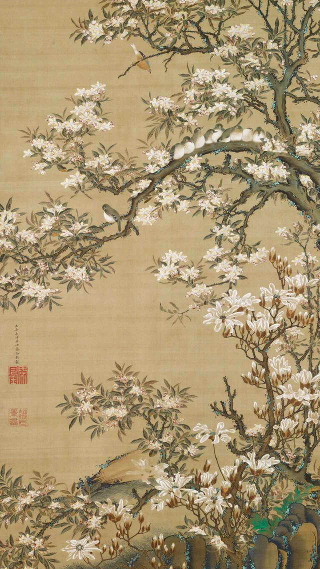 画像: 伊藤若冲「海堂目白図」江戸時代18世紀 住友コレクション