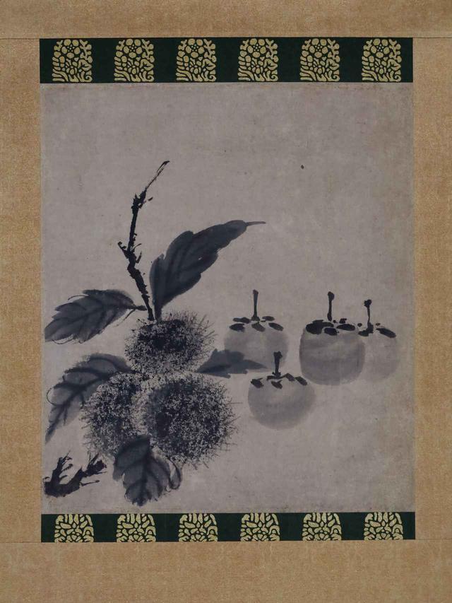 画像: 牧谿 柿栗図 宋時代 相国寺蔵
