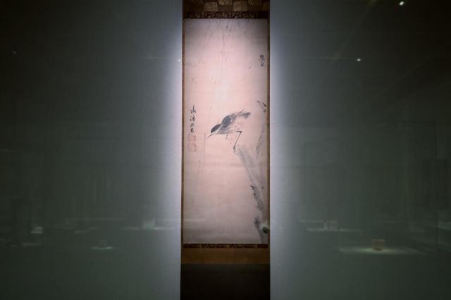 画像: 楚石梵琦・賛 黙庵霊渕・筆 「柳鷺図」元時代 14世紀 慈照寺蔵