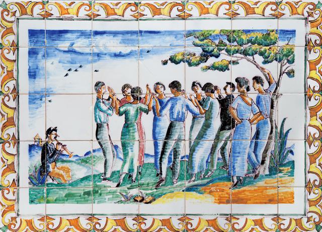 画像: シャビエ・ヌゲース、フランセスク・ケー 《レストラン「カン・クリャレタス」のタイル壁画 (サルダーナ)》|1923年|施釉タイル バルセロナ・デザイン美術館 © Barcelona Design Museum