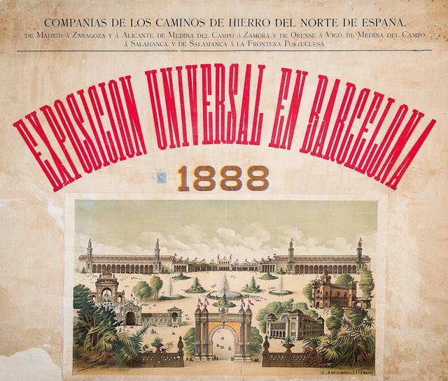 画像: G. L. ルイス《1888年バルセロナ万博のポスター》 1888年|クロマトグラフ・リトグラフ・紙 カタルーニャ図書館|© Biblioteca de Catalunya
