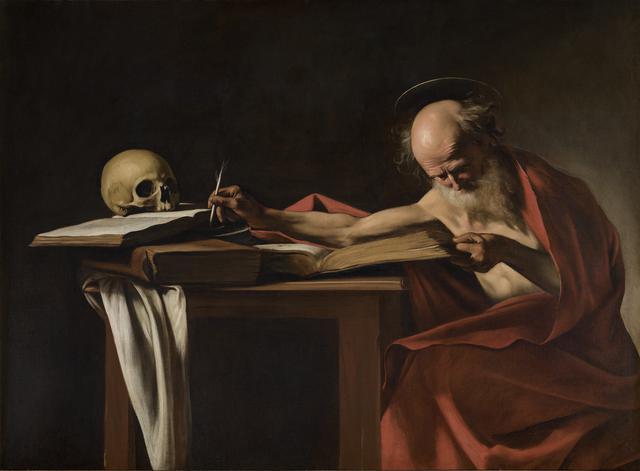 画像: 《執筆する聖ヒエロニムス》1605~06年ボルゲーゼ美術館蔵 ©Ministero per i Beni e le attività culturali-Galleria Borghese