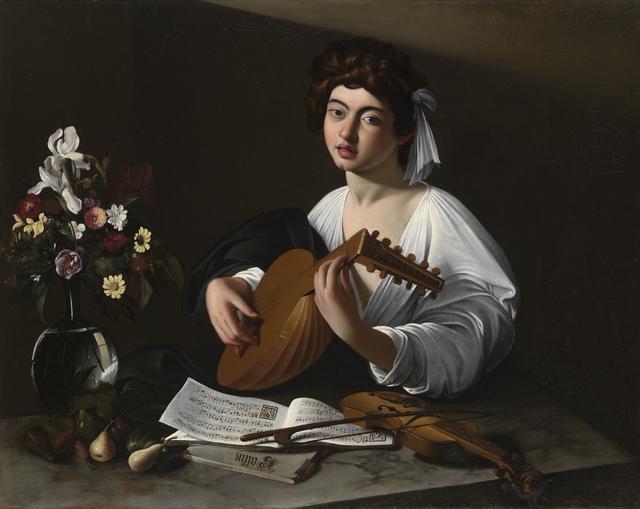 画像: 《リュート弾き》 1596-97年頃 個人蔵