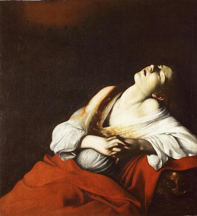 画像: 《法悦のマグダラのマリア》 1606年 油彩・カンヴァス個人蔵