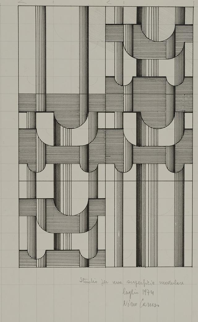 画像: ニーノ・カルーソ《表面構成のスタディスケッチ 1974年7月》1974年