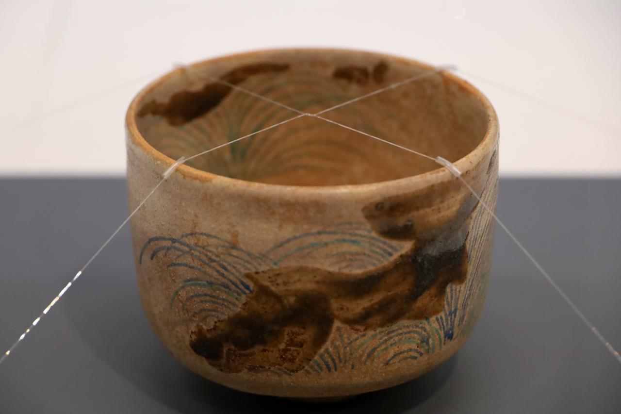 画像: 野々村仁清 色絵薄絵茶碗 江戸時代17世紀 北三井家旧蔵