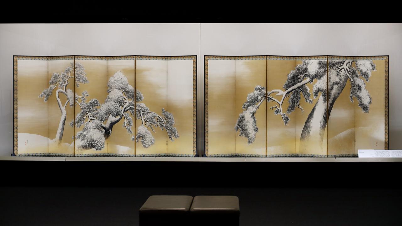 画像: 円山応挙「雪松図屏風」江戸時代18世紀 北三井家旧蔵 国宝
