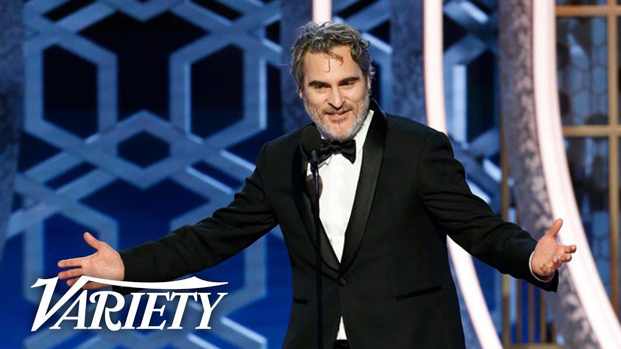 画像: Joaquin Phoenix Drops F-Bombs in 'Joker' Speech at the Golden Globes youtu.be