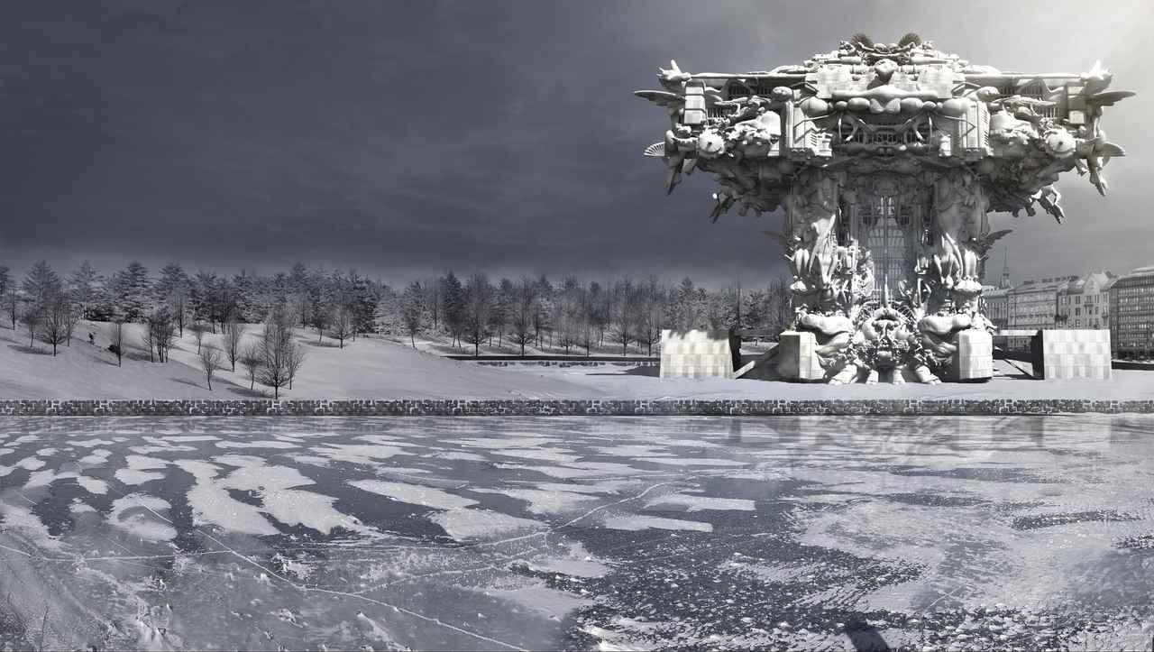 画像: マーク・フォスター・ゲージ《ヘルシンキ・グッゲンハイム美術館》CG 映像 2014 年