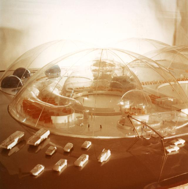 画像: 村田豊《ソビエト青少年スポーツ施設》模型写真 1972 年頃 村田あが蔵