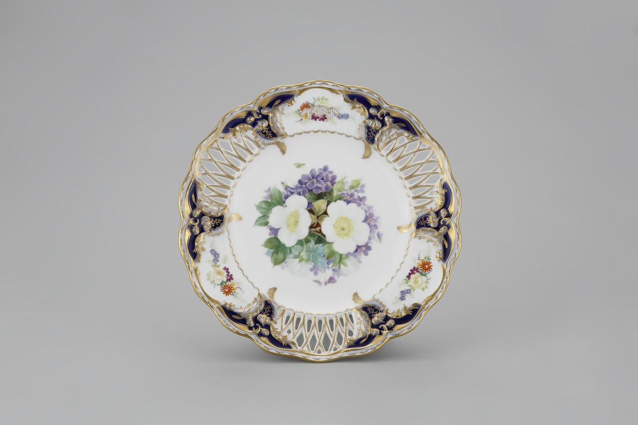 画像: 瑠璃透彫サービス皿 1940‐45年  個人蔵