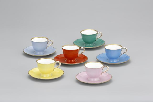 画像: 色蒔デミタス碗皿 1935‐45年 東京村田コレクション