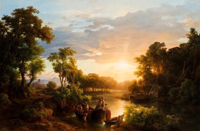 画像: マルコー・カーロイ(父) 《漁師たち》 1851 年 油彩/カンヴァス ブダペスト、ハンガリー・ナショナル・ギャラリー © Museum of Fine Arts,Budapest – Hungarian National Gallery, 2019